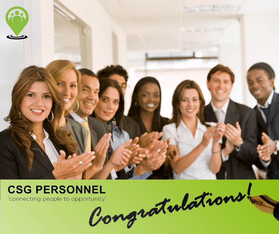 Congratulations – new job